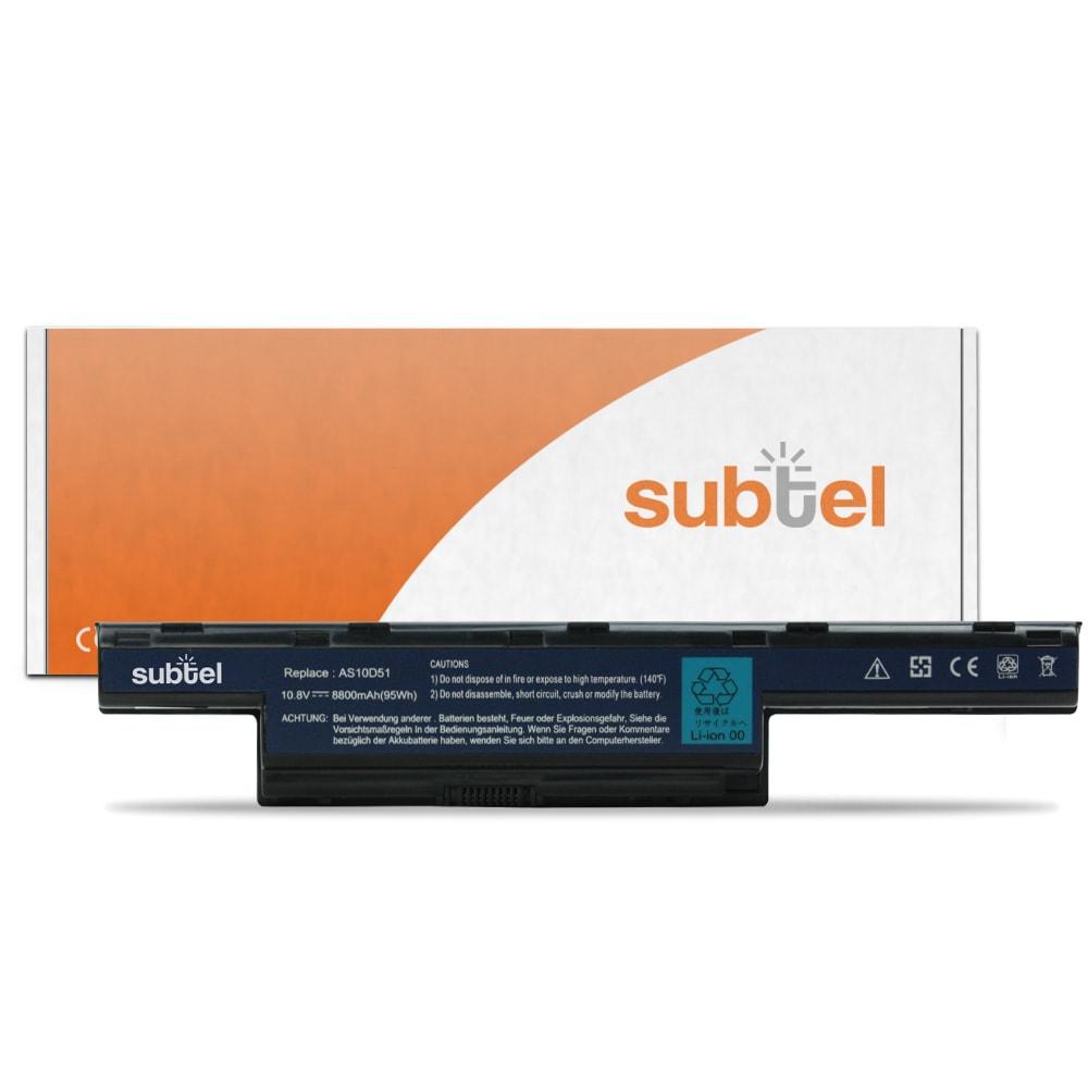 Batteria subtel® AS10D51 per Packard Bell EasyNote LM / LS / NM / NS / TK / TM / TS / TSX Affidabile ricambio da 8800mAh Sostituzione ottimale