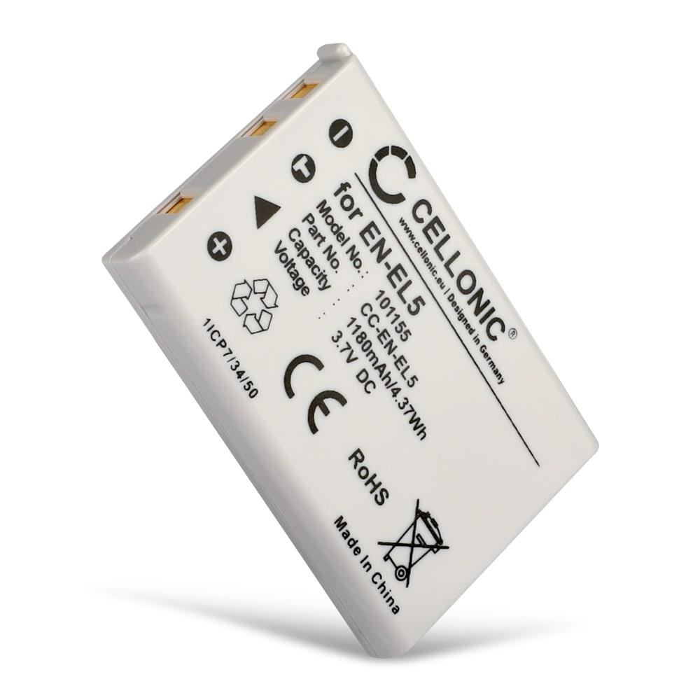 Kamera Akku für Nikon CoolPix P510 P520 P530 P500 P100 P90 P80 P6000 P51000 P4 P3 CoolPix S10 CoolPix 3700 7900 5900 5200 4200 - EN-EL5 Ersatzakku 1180mAh ENEL5, Batterie