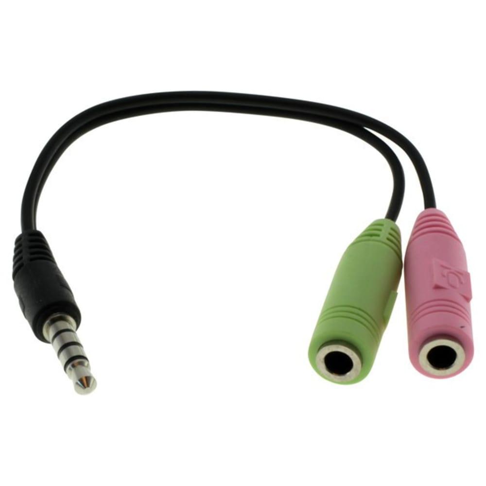 Audio-Mikro Adapter Y-Jack Verbindungskabel / 3,5mm