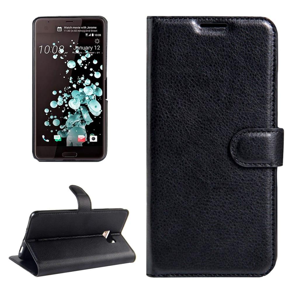 Etui Smart Case pour HTC U Ultra - Cuir synthétique, noir Etui,Housse, Coque, Pochette
