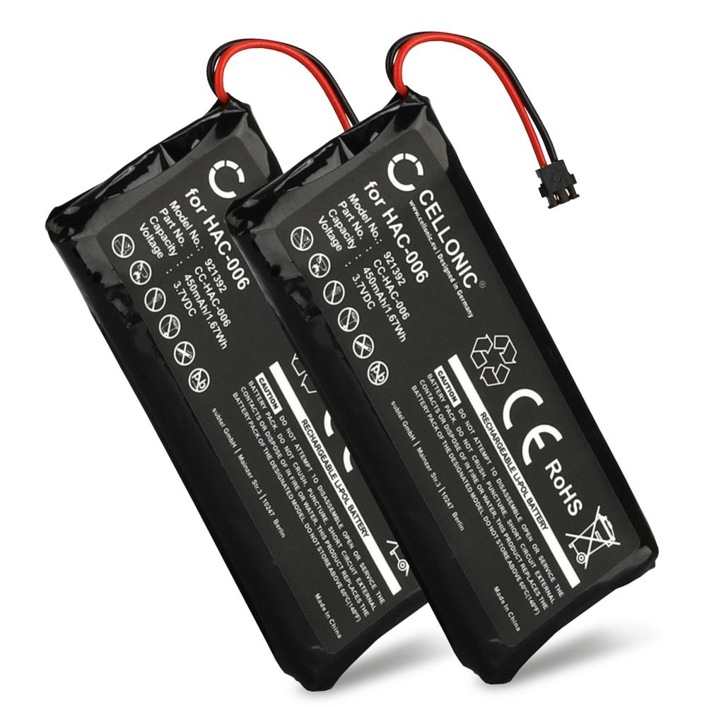 2x Batterie pour Nintendo Switch Joy-Con L / R - HAC-006 450mAh