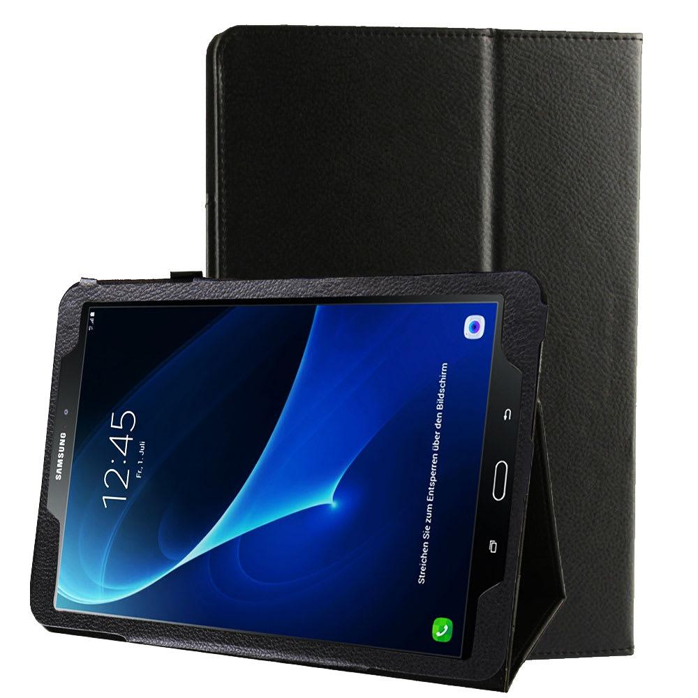 Etui Smart Case pour Samsung Galaxy Tab A 10.1 (SM-T580 / SM-T585) - Cuir synthétique, noir Housse Pochette
