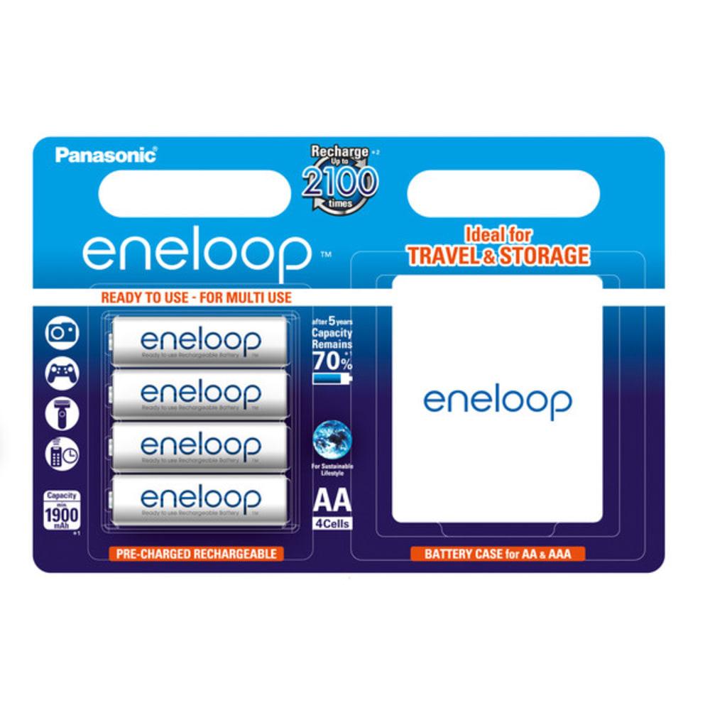 Accus Batteries AA 4x Panasonic eneloop BK-3MCC (Mignon, R6, LR6, HR6) + transport box
