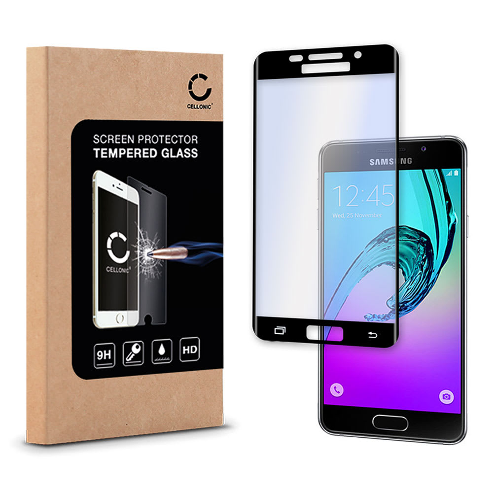 Protection d'écran en verre Samsung Galaxy A7 (2016 - SM-A710) (3D Full Cover, 9H, 0,33mm, Edge Glue) Verre trempé