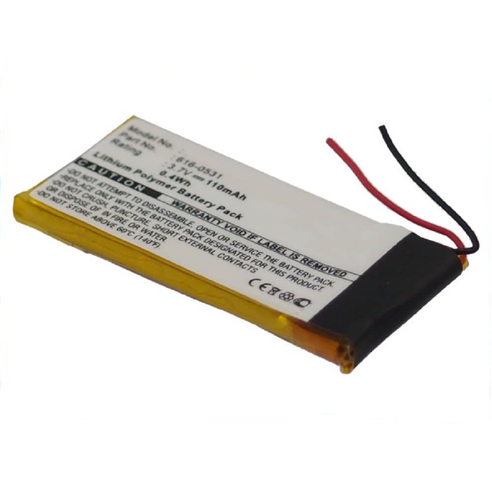 616-0531, 616-0532 Batteri för Apple iPod nano 6 Gen. A1366 - 110mAh Laddningsbart ersättningsbatteri eller reservbatteri