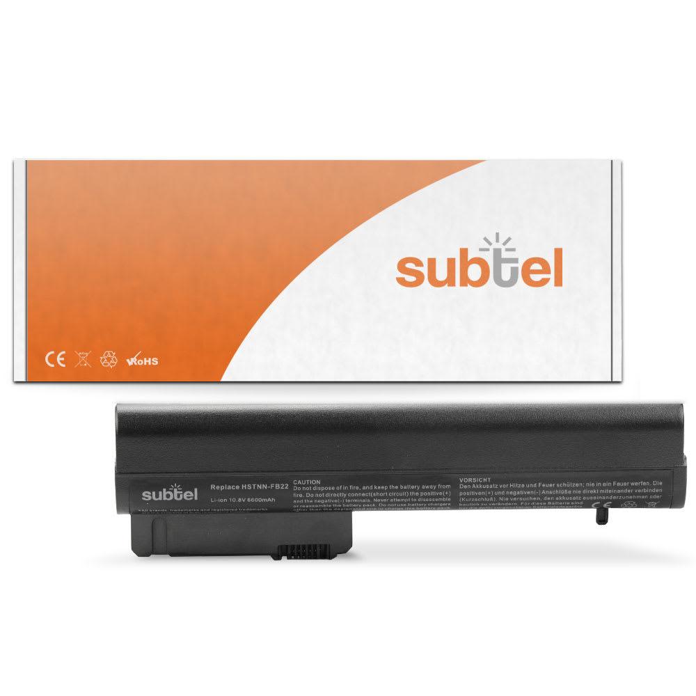 subtel® Laptop Battery for HP 2533t Compaq 2510p nc2400 nc2410 EliteBook 2530p 2540p MS06XL 6600mAh Notebook Replacement Battery Power Bank