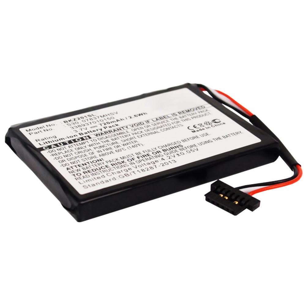 Batterie pour navigateur GPS Becker Ready 50, Becker Traffic Assist Z 99 Becker Traffic Assist Z 200 Becker Traffic Assist Z 205 - 07837MHSV,338937010150,S30 720mAh