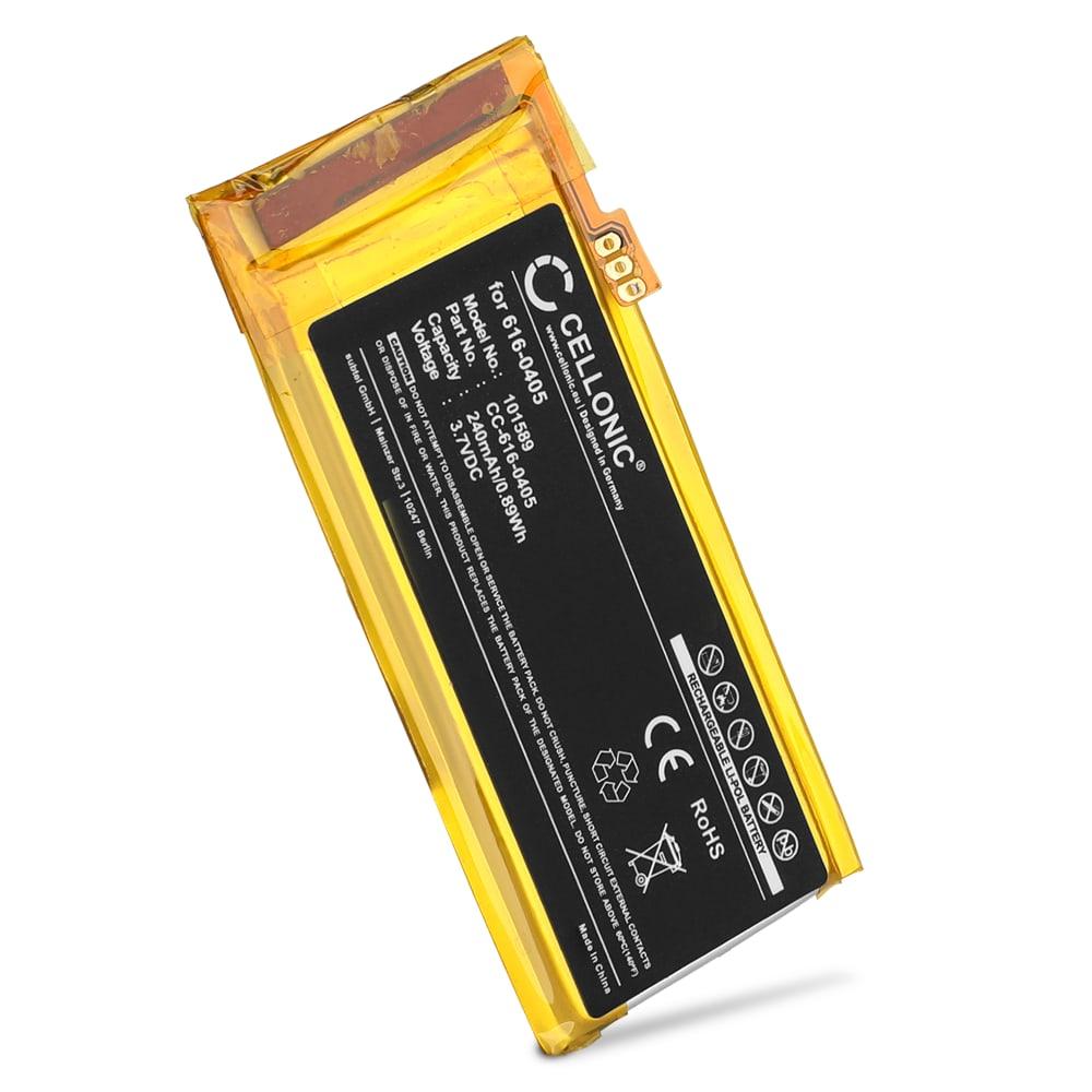 616-0405,616-0407,P11G73-01-S01 Batteri för Apple iPod nano 4 Gen. A1285 - 240mAh Laddningsbart ersättningsbatteri eller reservbatteri