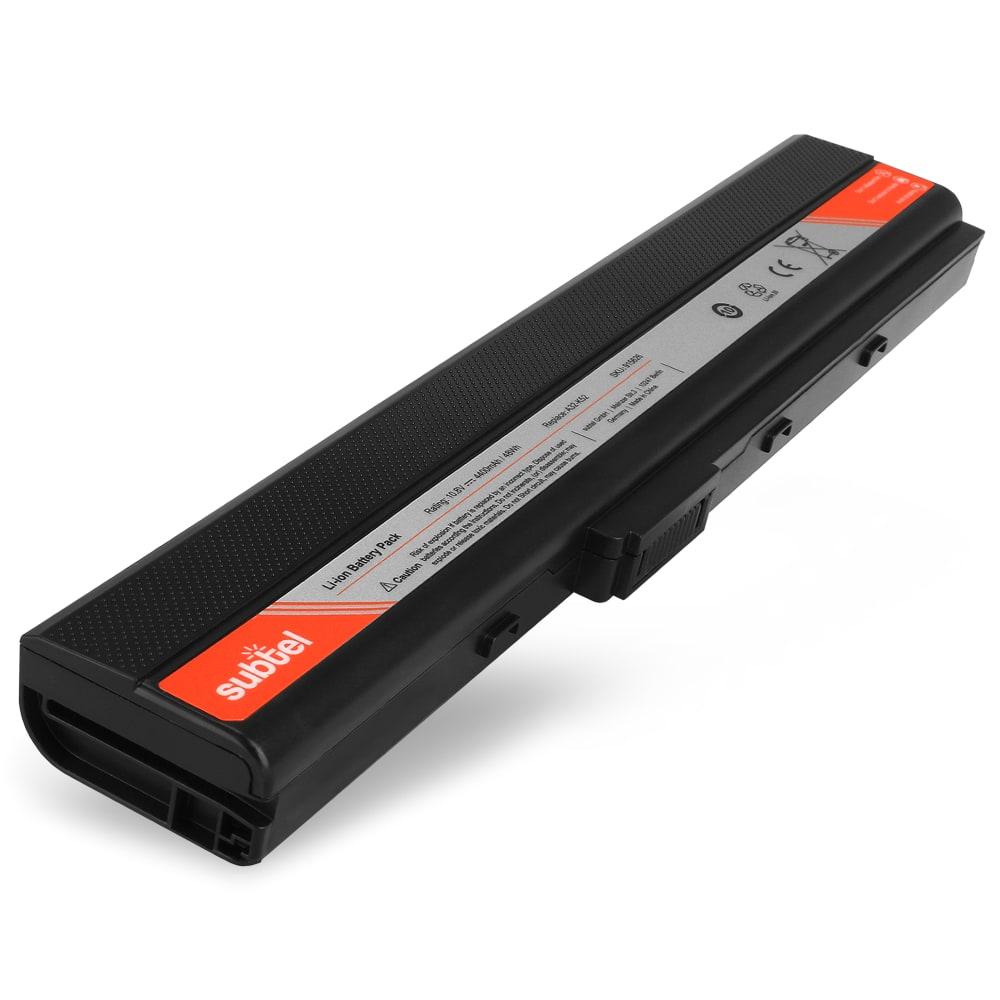 Batteria subtel® A32-K52 (10.8V)* per Asus A40 / A42 / A52 / B53 / K42 / K52 / P42 / P52 / Pro5I / Pro67 / X5I / X42 / X67 Affidabile ricambio da 4400mAh Sostituzione ottimale