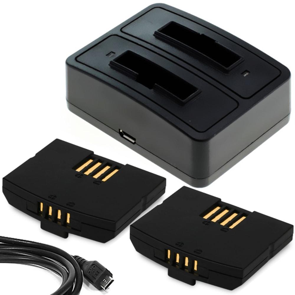2x Batterie pour Sennheiser Set 840 TV, RS 4200, RI 410 (IS 410), Set 830 TV, Set 840-S, Set 900, RR 840, EKI 830, HDI 830 - BA300,BA 300, NCI-PLS100H,500898 150mAh + Chargeur