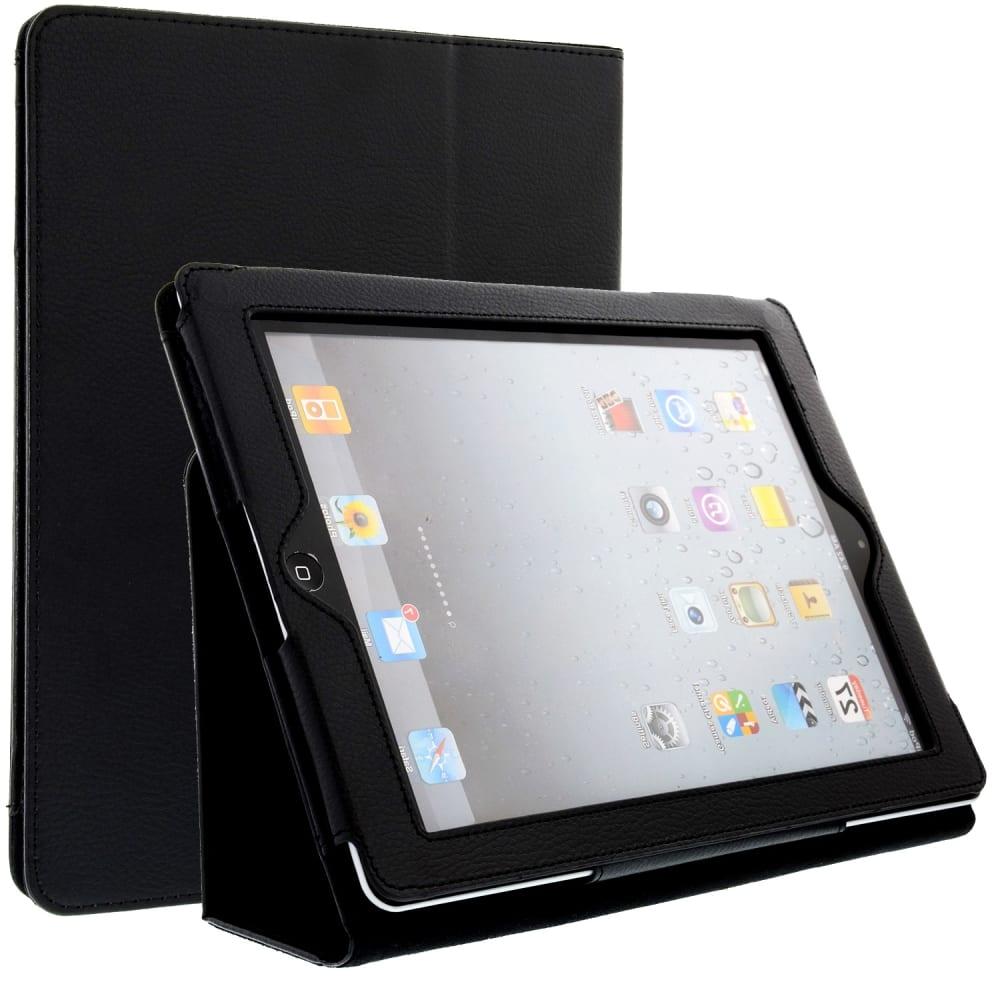 Smart Case für Apple iPad 2 / iPad 3 / iPad 4 (Wake / Sleep) - Kunstleder, schwarz Tasche Case Schutzhülle