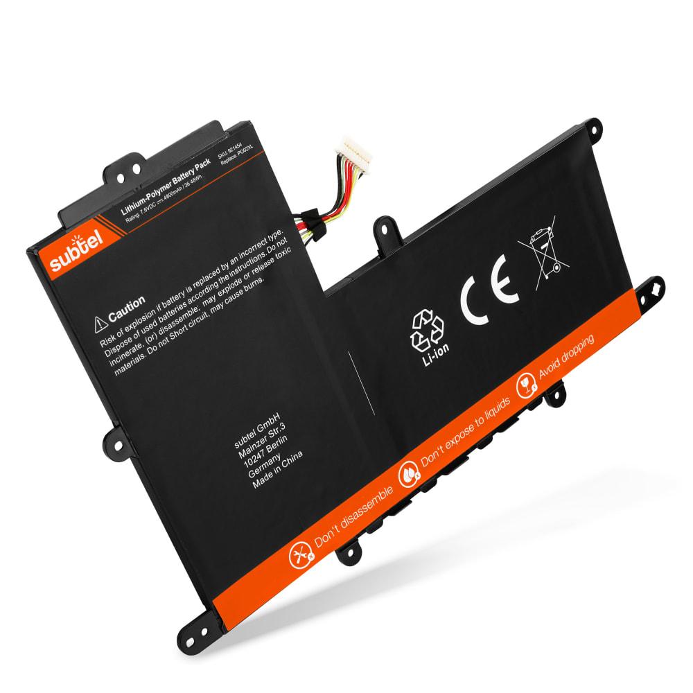 Akku für HP Stream 11-r0xx Serie - Notebookakku PO02XL 5600mAh Ersatzakku, Laptopakku
