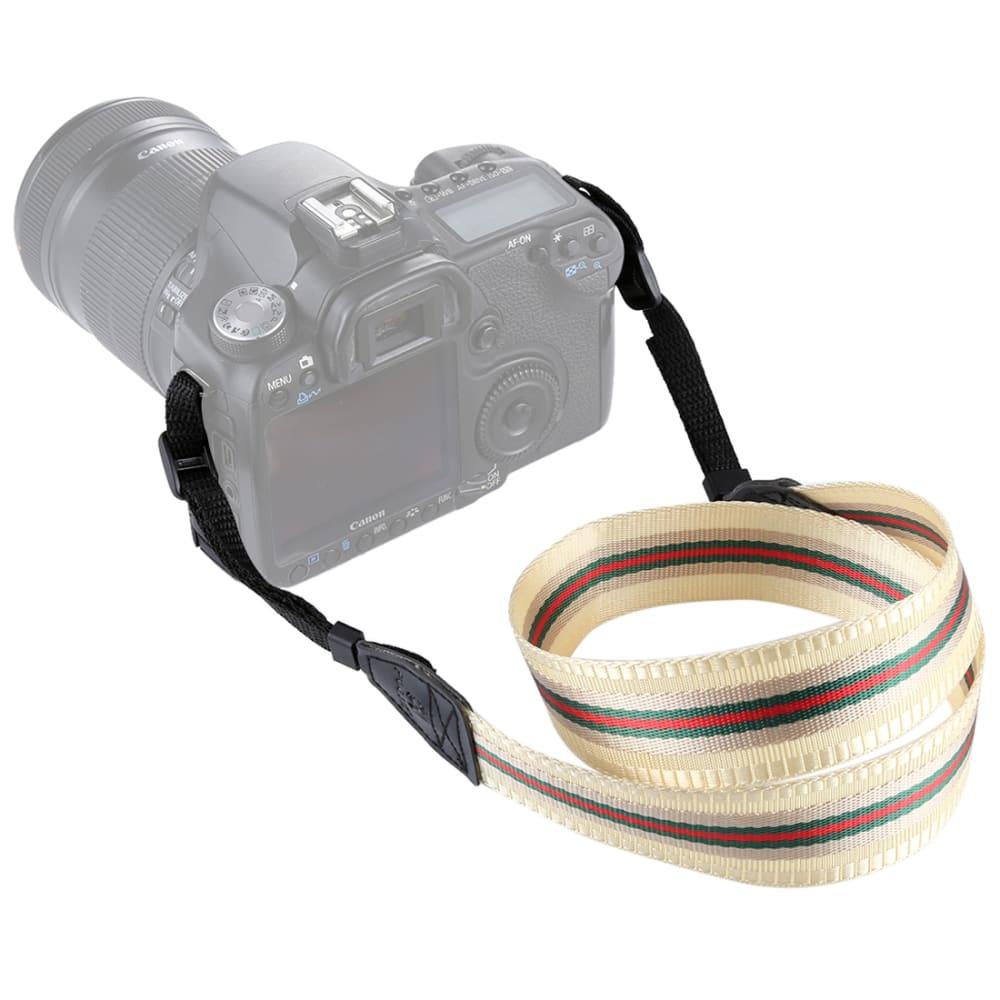 Courroie d'appareil photo pour Canon EOS, Panasonic Lumix, Nikon D, Sony Alpha, etc, 135cm max., Boucle, Cuir