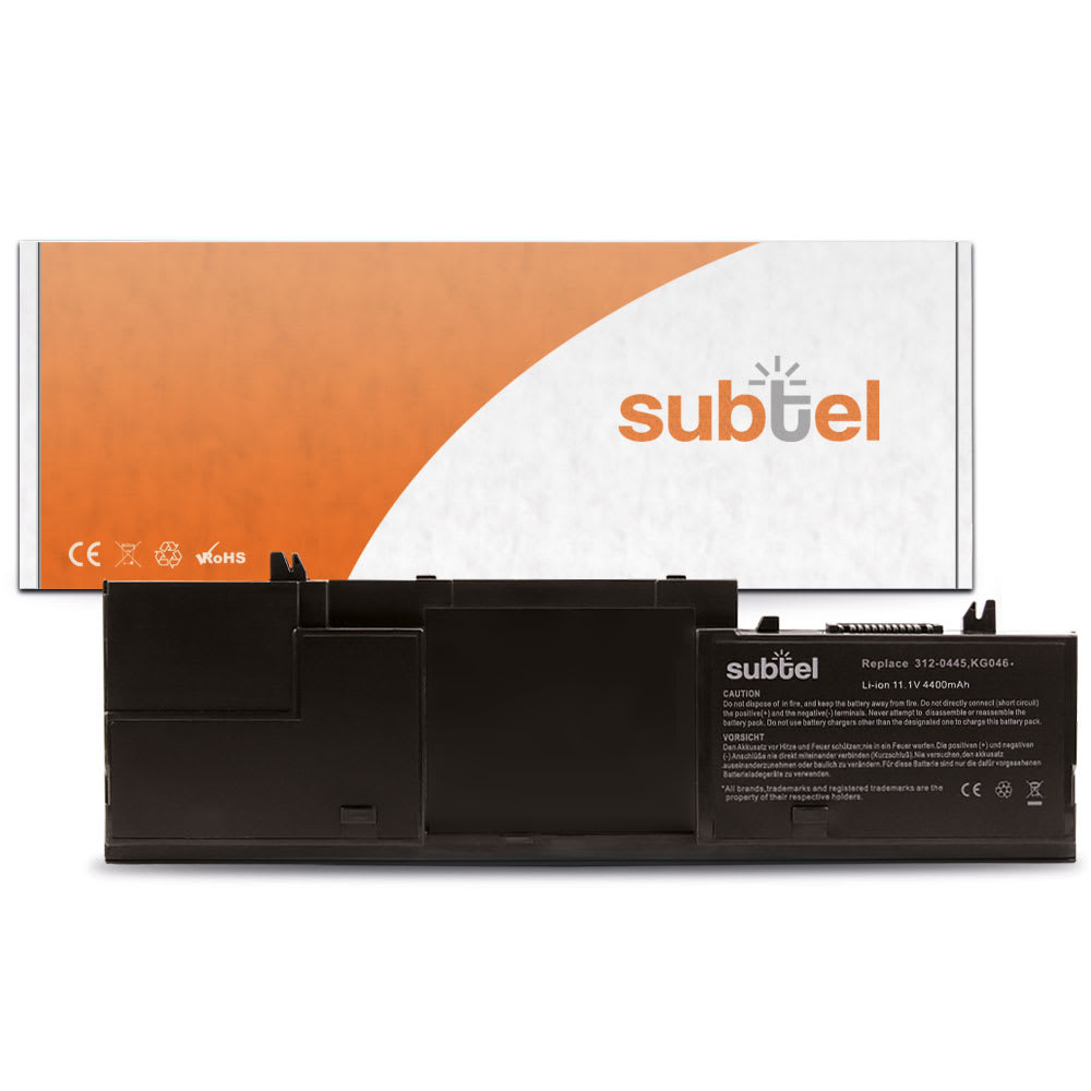 subtel® Laptop Battery for Dell Latitude D420 D430 PP09S 451-10365 4400mAh Notebook Replacement Battery Power Bank
