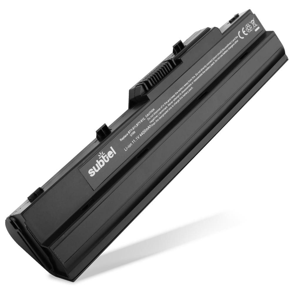 bærbar batteri til MSI Wind U90 / U100 / U110 / U115 / U120 / U123 / U135 / U200 / U210 / U230 / U270 - BTY-S11 / BTY-S12 / BTY-S13 (4400mAh) Notebook udskiftsningsbatteri og ekstra batteri til computer