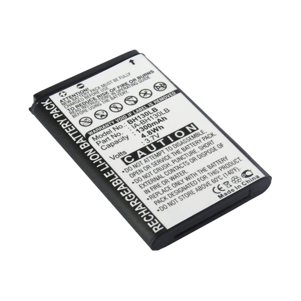 Batterij voor Samsung HMX-U20 SMX-C10 SMX-C100 SMX-C13 SMX-C14 SMX-C20 SMX-C200 SMX-C24 SMX-K40 SMX-K400 SMX-K44 SMX-K442 SMX-K45 camera - AD43-00190A IA-BH130LB 1300mAh Vervangende Accu voor fototoestel