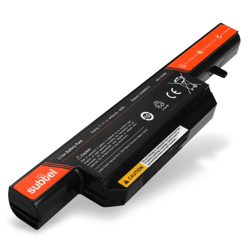 Akku für Clevo C4500 / B4100M / B4105M / B5100M / B7130 / C4100 / C5100 - Notebookakku C4500BAT-6 4400mAh Ersatzakku, Laptopakku