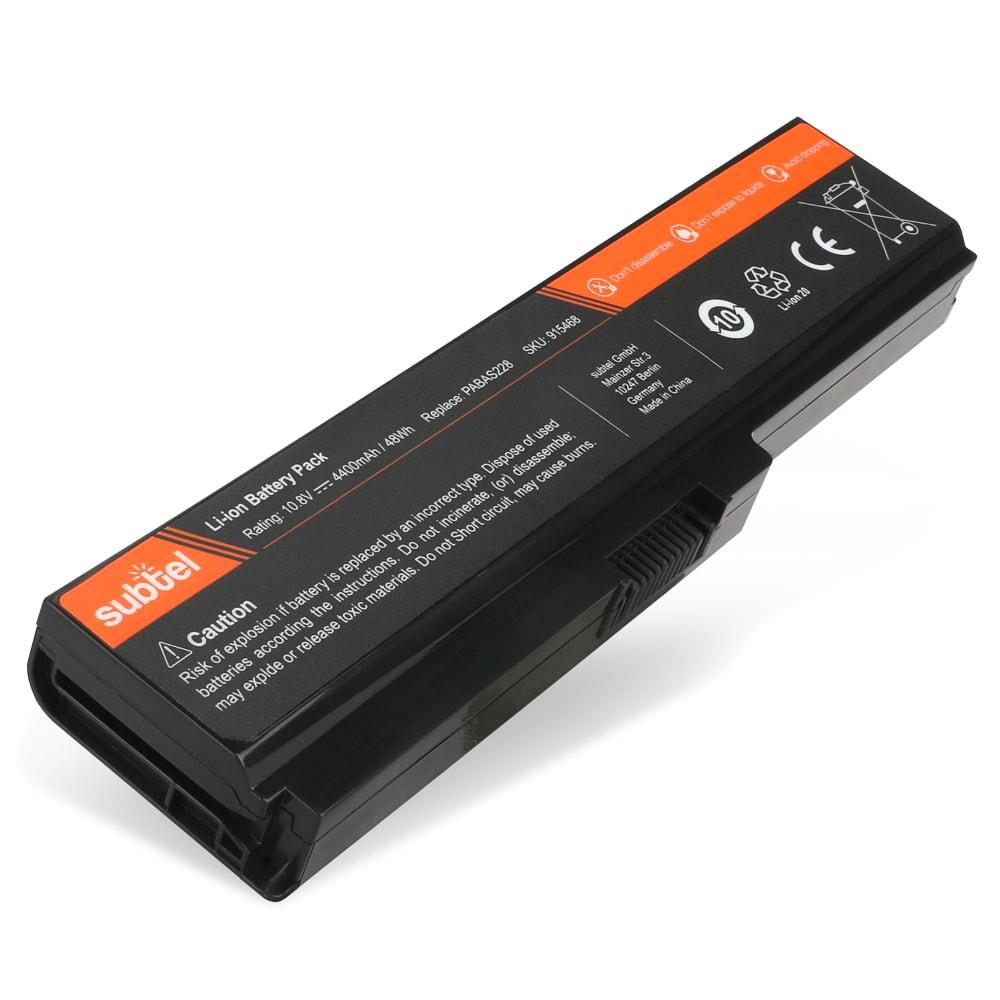 Laptop batterij voor Toshiba Satellite A660 / L630 / L700 / L750D / P770 / Pro L770 - PABAS228 4400mAh vervangende accu notebook