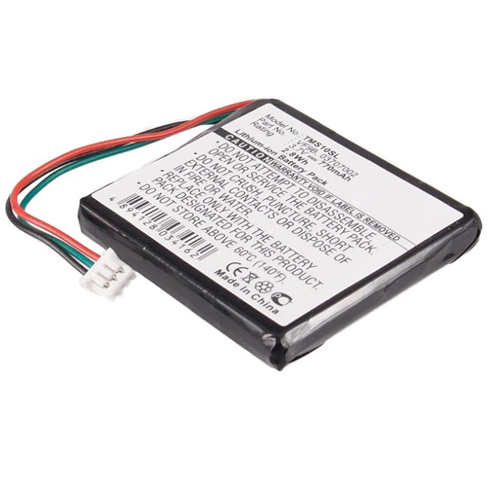 Battery for TomTom 1EX00, 4EX0.001.11, Start Europe Start Regional, Start 2 Central Europe Traffic / Europe / Regional - AHL03706001,AHL03707002,VF9B (770mAh) Replacement battery