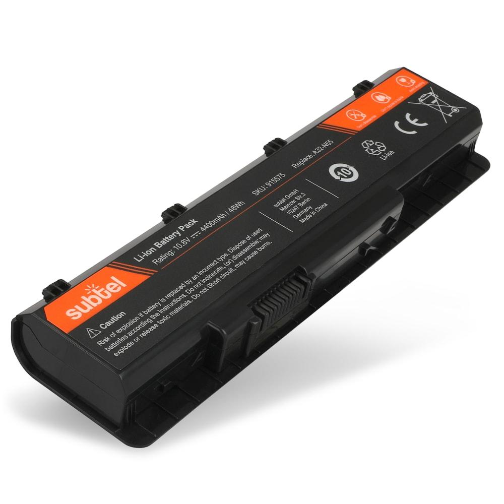 Laptop batterij voor Asus N45 / N55 / N75 / Pro4K / Pro5Q / P7D / X4K / X5Q / X7D - A32-N55 4400mAh vervangende accu notebook