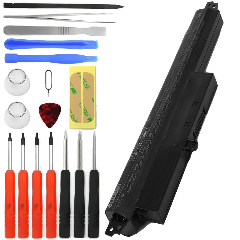 Batterie de remplacement pour ordinateur portable Asus Vivobook F200 / X200 - A31N1302 2200mAh + Set de micro vissage