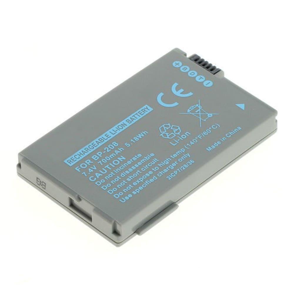 BP-208,BP-208DG Batteri för Canon DC20 DC100 DC10 DC40 DC95 DC19 DC21, Elura, MVX, Optura, 700mAh Kamera-ersättningsbatterimed lång batteritid