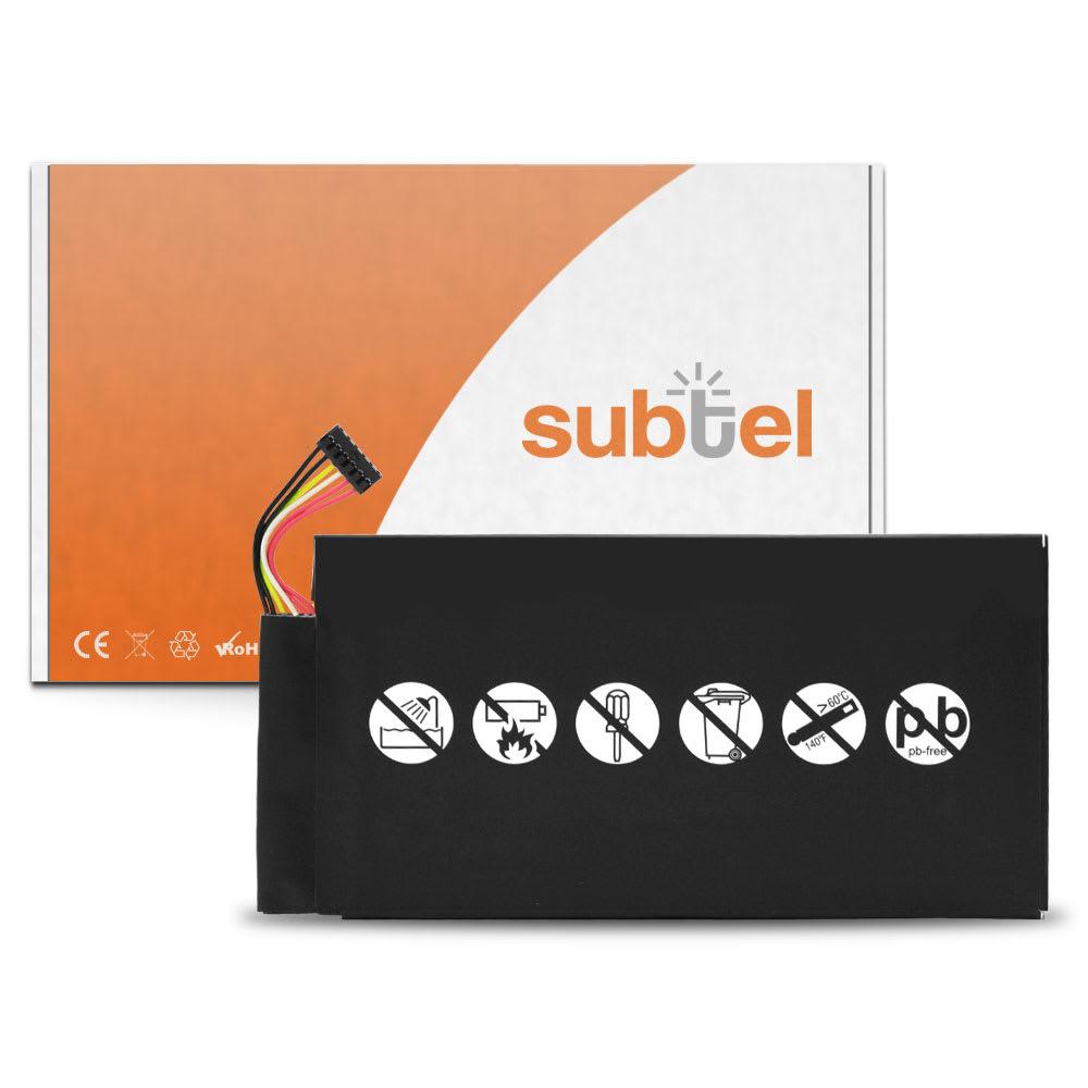 subtel® Replacement Tablet Battery for ASUS / Google Nexus 7 1st Gen (2012) / Pad ME370T C11-ME370T Battery Replacement 4300mAh