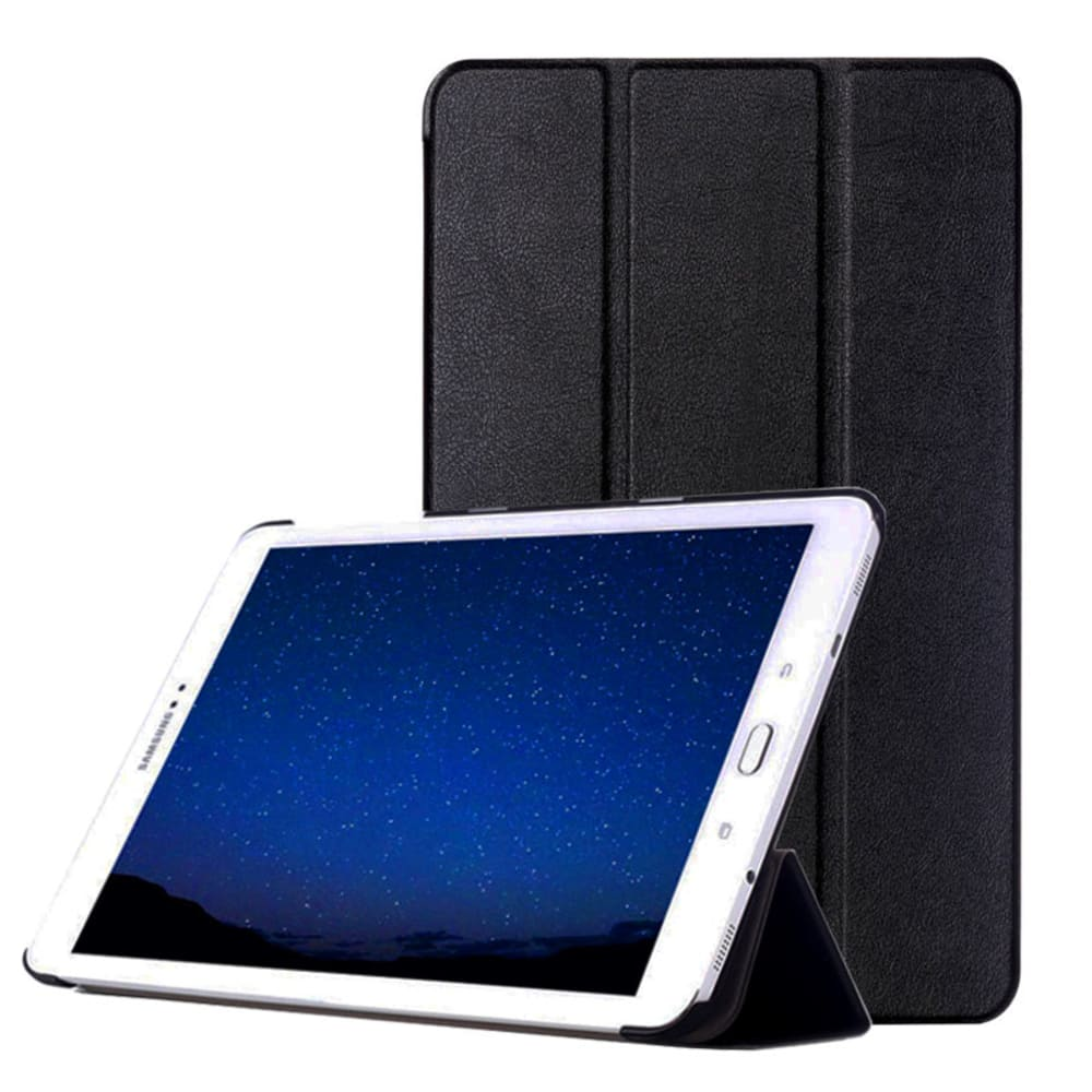 Flip Cover für Samsung Galaxy Tab S2 9.7 (SM-T810 / SM-T813 / SM-T815 / SM-T819) - Kunstleder, schwarz Tasche Case Schutzhülle