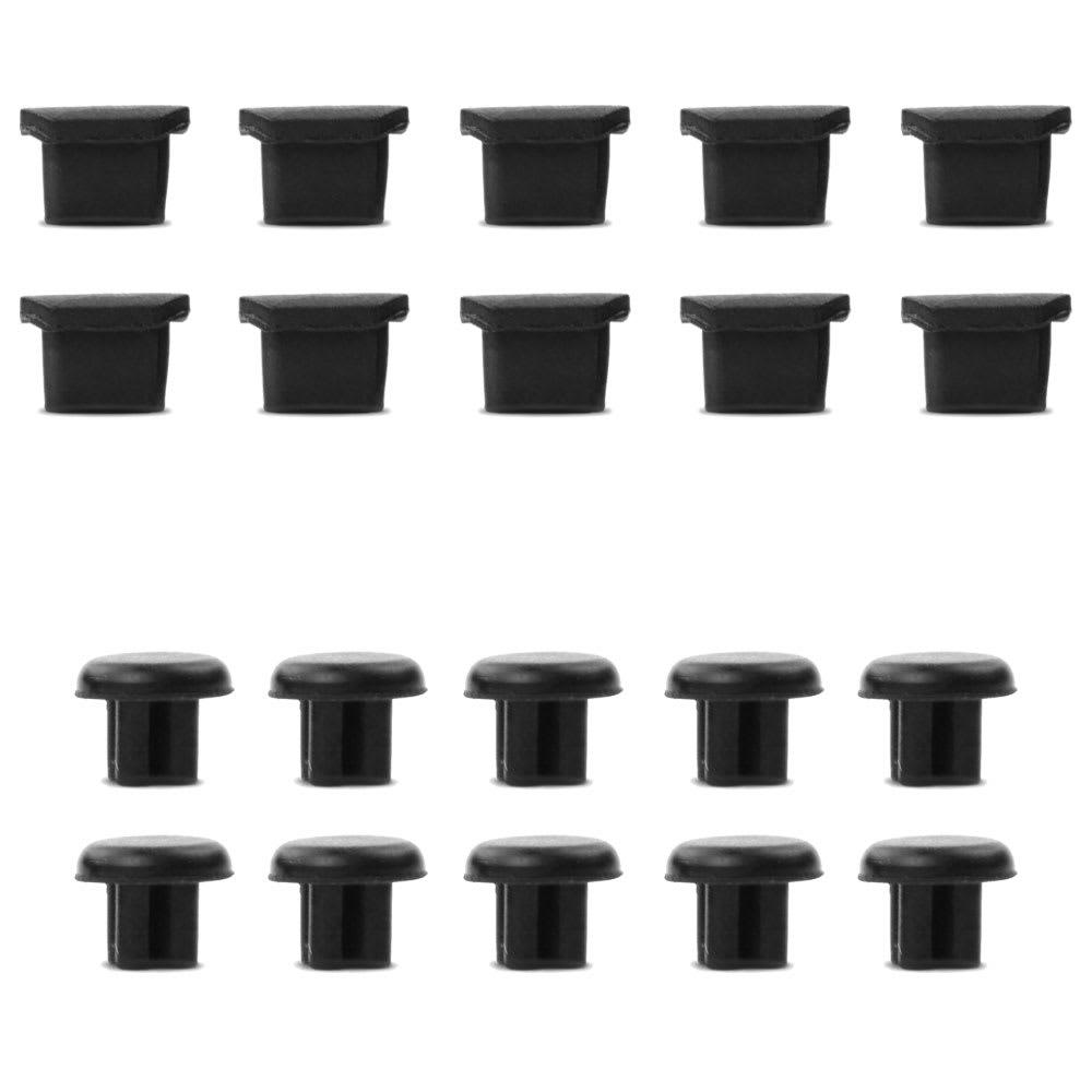 10x Universal Staubschutz-Abdeckung für microUSB und 3,5mm Audio Anschluss