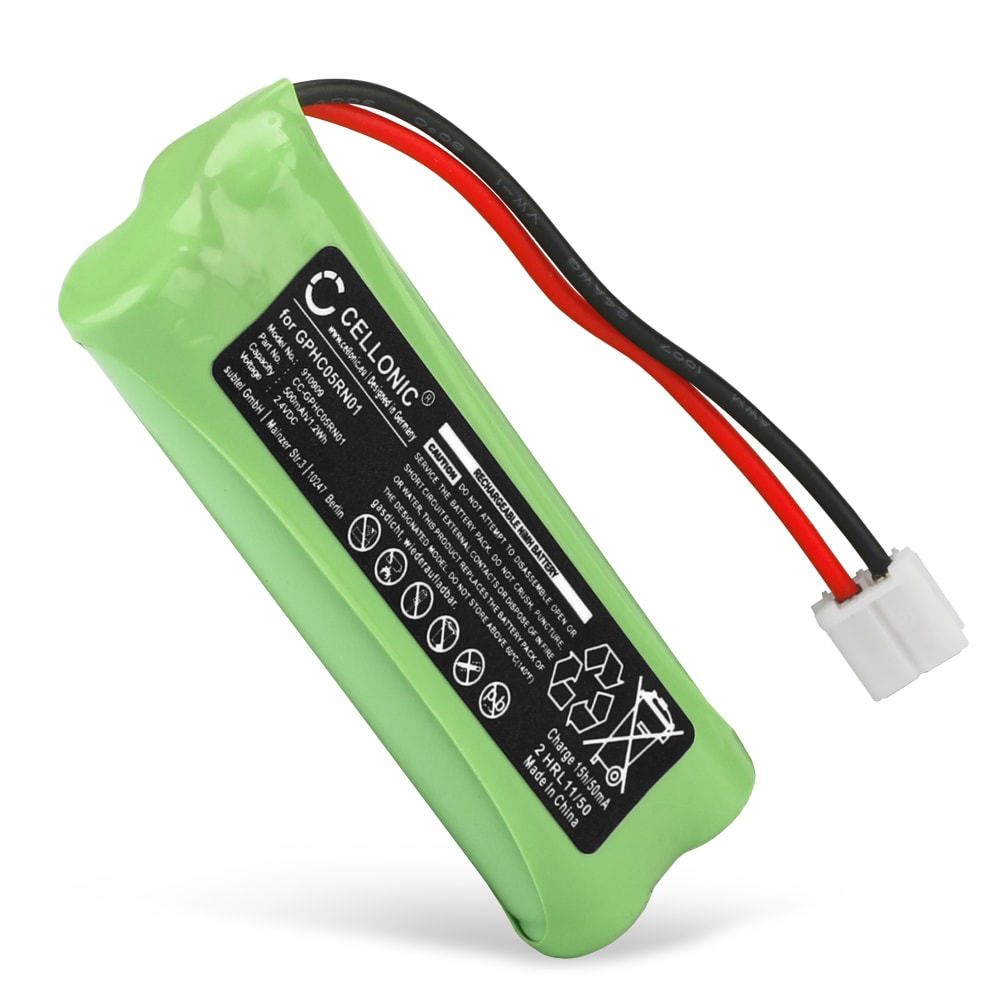 CELLONIC® Rechargeable Phone Battery for Audioline Monza, Medion Life S63062, S63065, MD82973, MD93035, Swissvoice DP500 Eco Plus, DP550 Eco Plus BT GPHC05RN01 Battery Replacement 500mAh