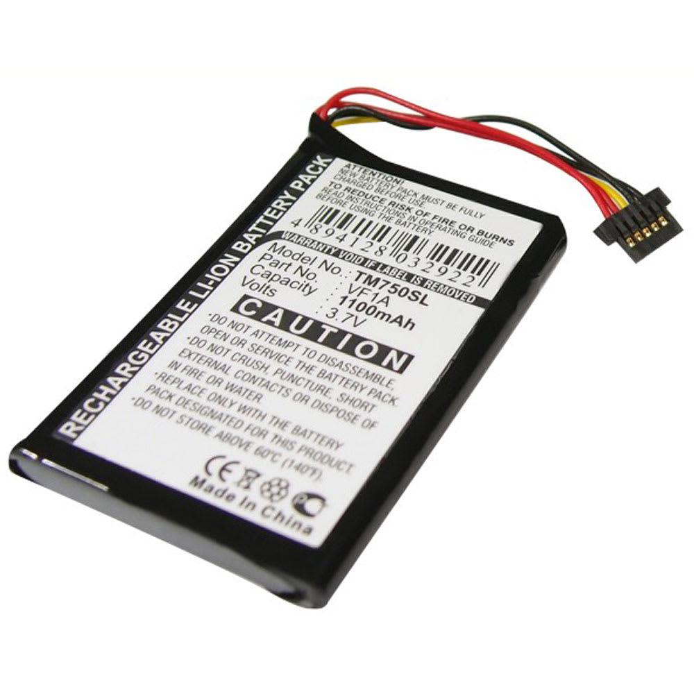 Batteri til TomTom GO 740 Live GO 740TM GO 750 GO 750 Live GO 750 Traffic 4CP0.002.06 - AHL03711012 HM9440232488 VF1A (1100mAh) Reservebatteri