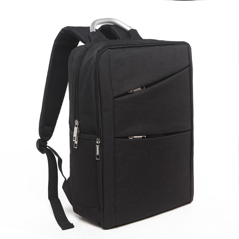 Sac à dos Noir en Tissu Oxford avec Compartiment pour Ordinateur Portable de 14