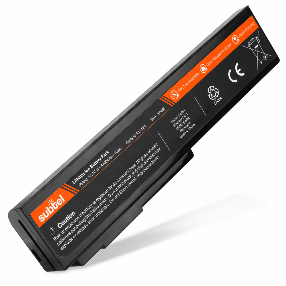 subtel® Laptop Battery for ASUS G50 / G51 / G60 / L50 / VX5 / M50 / M60 / X55S / X57V A32-M50 4400mAh Notebook Replacement Battery Power Bank
