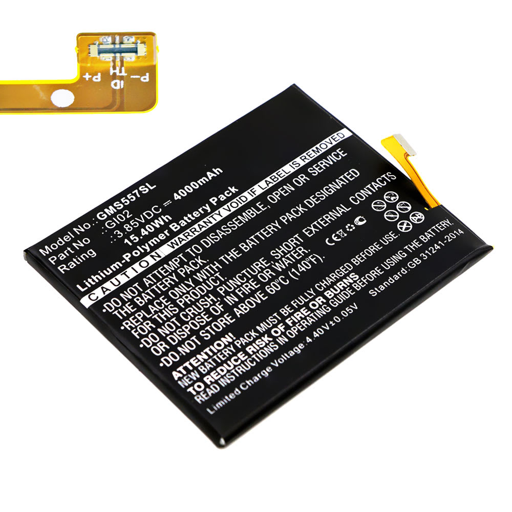 Akku für Gigaset ME Pro Handy / Smartphone - Ersatzakku GI02 4000mAh , Neuer Handyakku