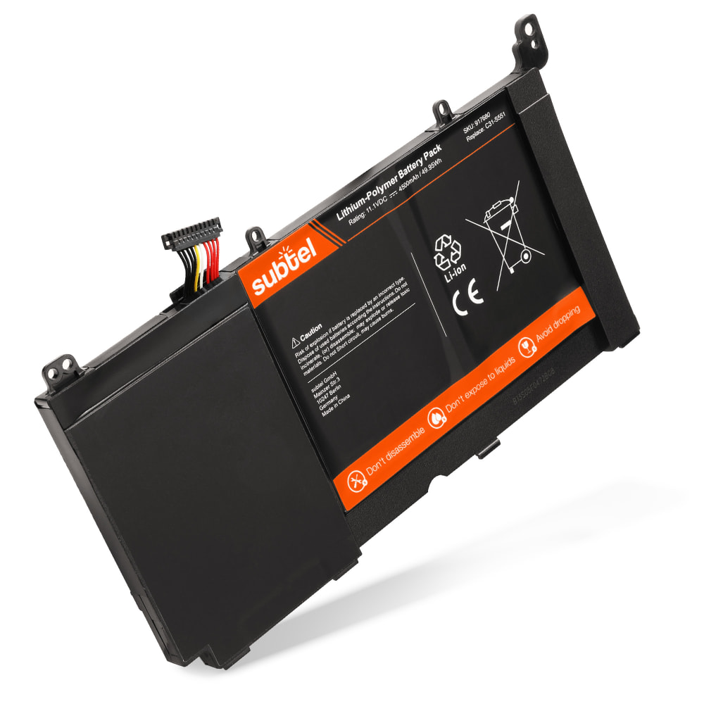 subtel® Laptop Battery for ASUS Vivobook R451L / R551L / S451L / S551L / V451L / V551L C31-S551 4500mAh Notebook Replacement Battery Power Bank