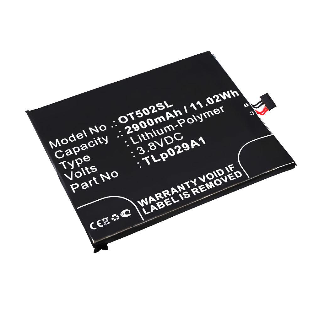 Batterie pour téléphone portableAlcatel One Touch Pop 3 (5.5) (5025 / 5025D) - TLp029A1, CAC2910008C1, 2900mAh interne neuve , kit de remplacement / rechange