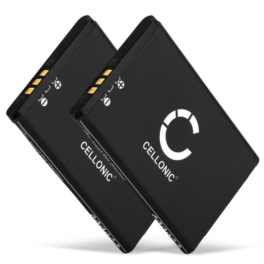 2x Ersatz Akku für Swissvoice ePure / ePure fulleco DUO - Telefonakku 043048,C0487,SV20405855 650mAh Ersatzakku, Batterie