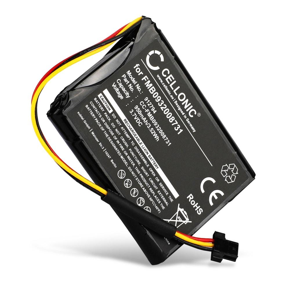 Batteri til TomTom Go 500 (2013), Go 510 (2013), Go 50 / Start 50 - FMB0932008731 AHA11110005 6027A0089521 (950mAh) Reservebatteri