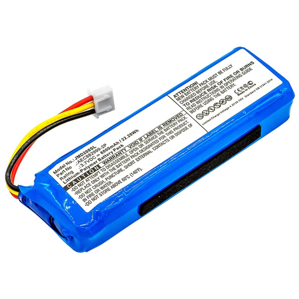 Lautsprecher Akku für JBL Charge 1. Gen. - AEC982999-2P 6000mAh Soundbox Ersatzakku, Batterie