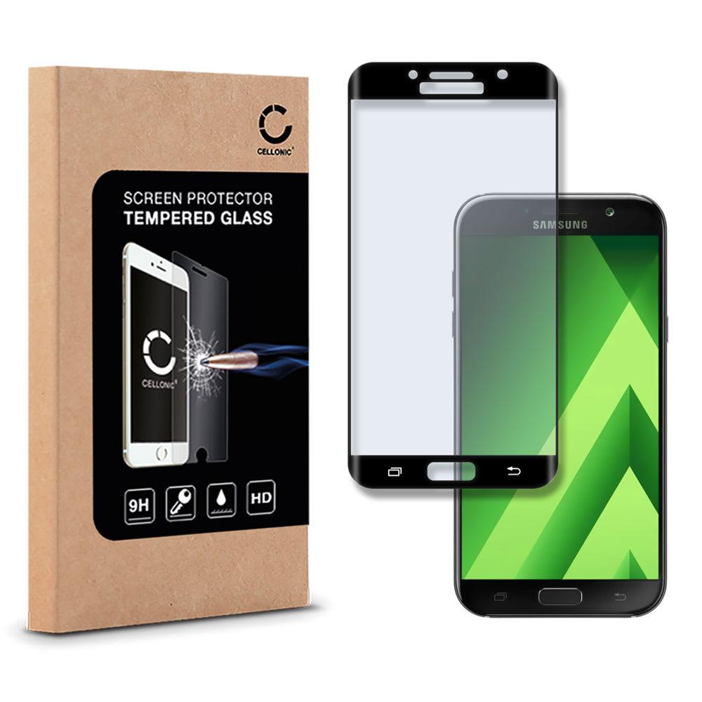 Protection d'écran en verre Samsung Galaxy A7 (2017 - SM-A720) (3D Full Cover, 9H, 0,33mm, Edge Glue) Verre trempé