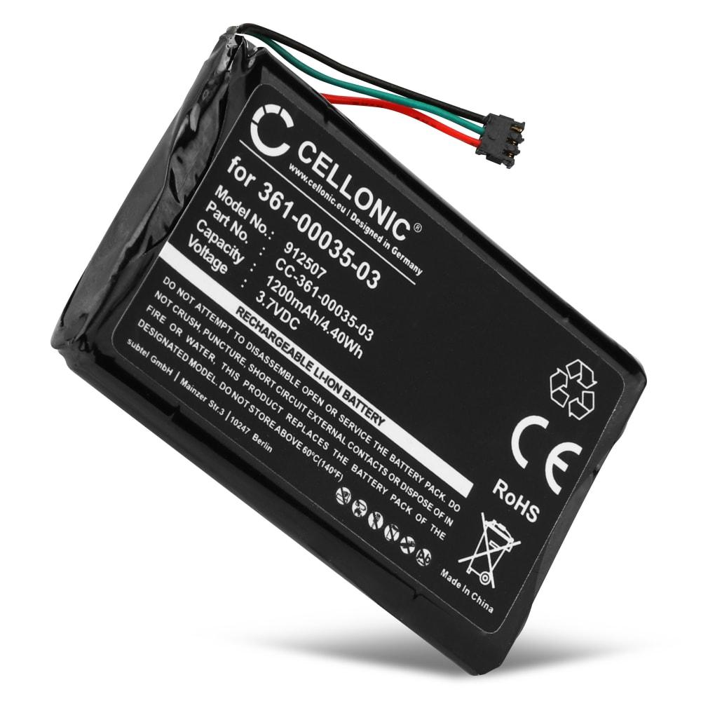 Batteri til Garmin Nüvi 2597, 2595, 2497, 2495, 2475, 2455 (LM, LT, LMT, LMT-D) / Edge 1000 Touring - 361-00035-03 (1200mAh) Reservebatteri