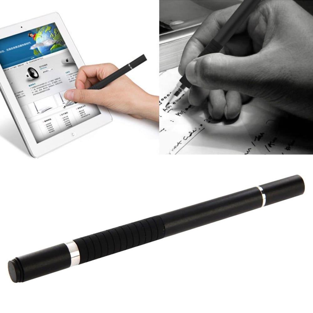 2in1 Design Touchpen für Smartphone, eReader Tablet & Co. inkl. Kugelschreiber / schwarz