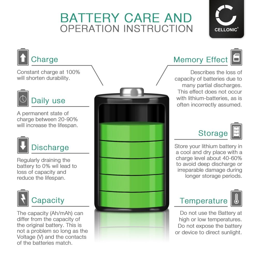 subtel® Phone Battery Replacement for Samsung GT-S5230 / SGH-U700 / SGH-U700V / SGH-G800 / SGH-I870 - 800mAh