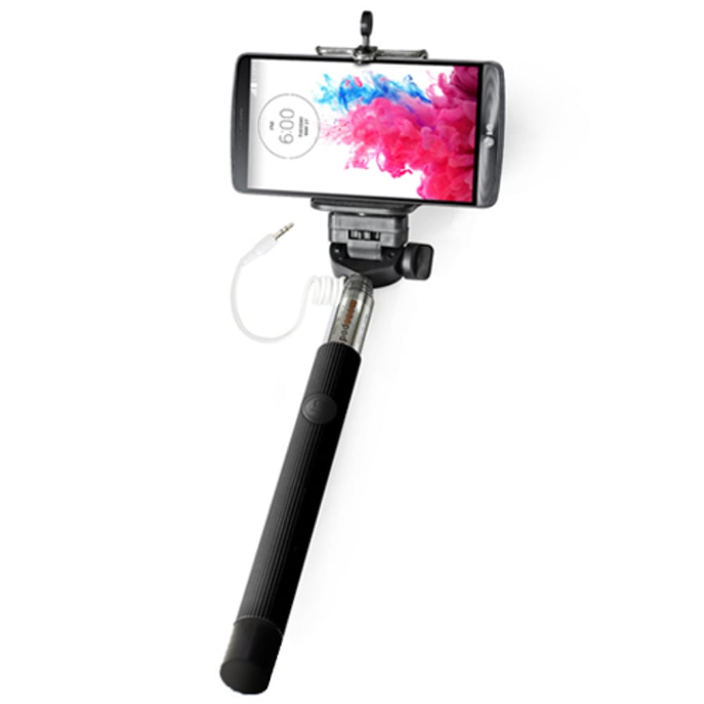 Selfie Stick – Extendable Telescopic Wired Monopod Holder with Universal Mount (Screw Mount) for iPhone, Samsung & +