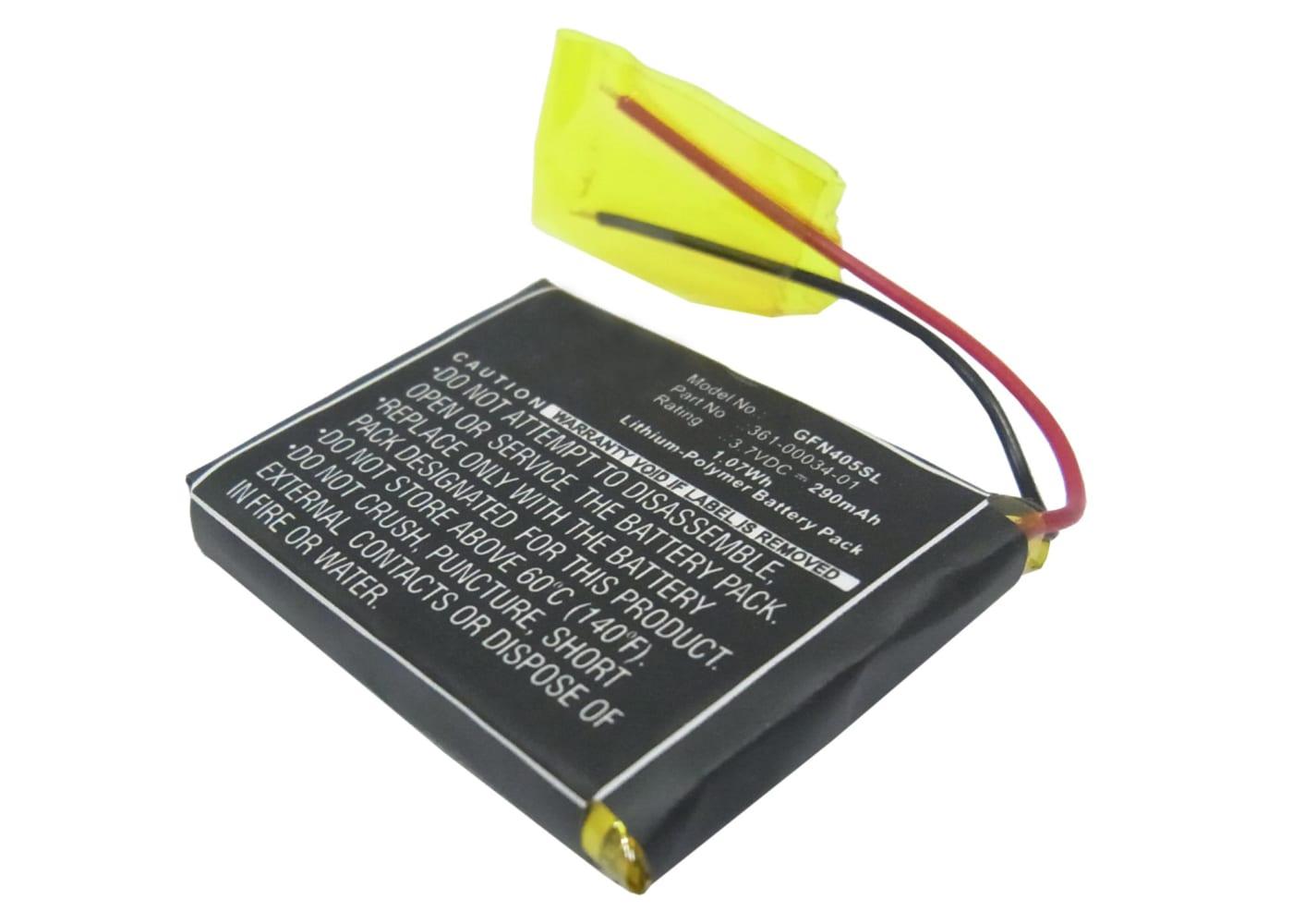 GPS Ersatz Akku für Garmin Foretrex 401 Foretrex 405 Foretrex 405cx Navigationsgerät - 361-00034-01 290mAh Navi Ersatzakku , Batterie
