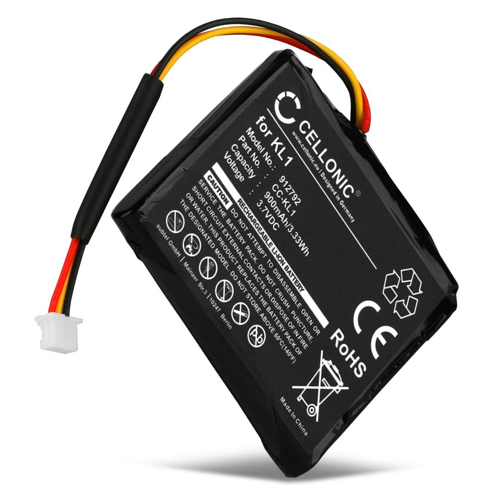 CELLONIC® 6027A0114501,KL1 GPS-batteri för TomTom VIA 1405 1405M 1405T, VIA 1435 1435TM, VIA 1505 1505M 1505T, VIA 1535 med 900mAh - navigatorbatteri med lång batteritid