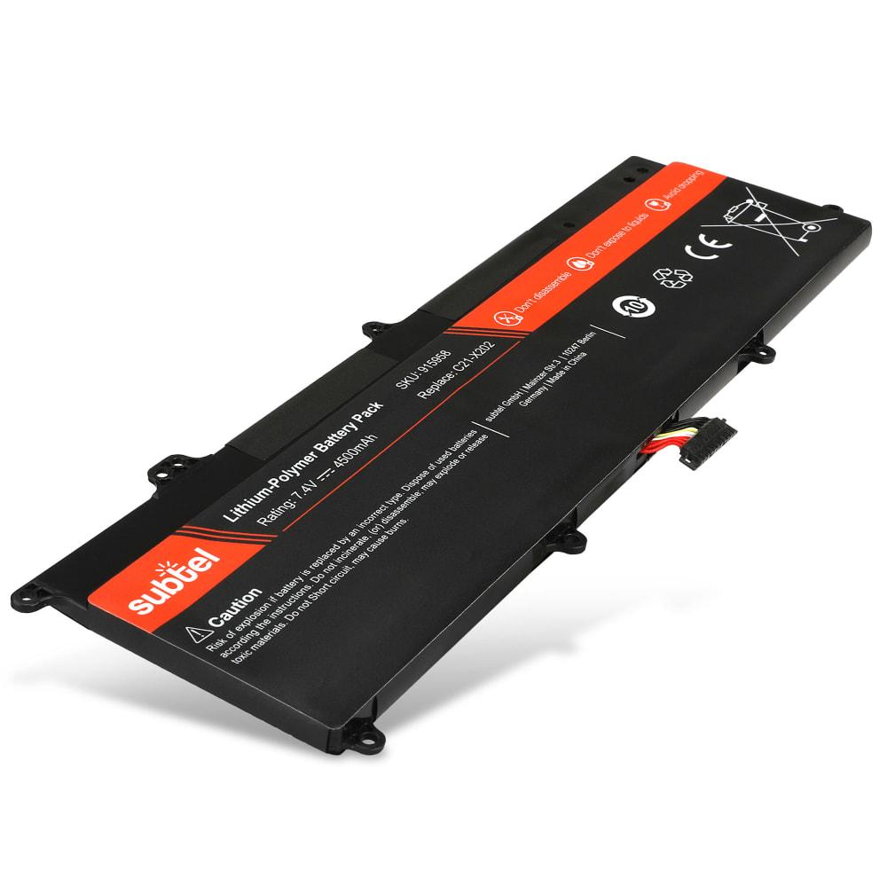 subtel® Laptop Battery for Asus Vivobook F201E / F202E / Q200E / R200E / R201E / S200E / X201E / X202E C21-X202 4500mAh Notebook Replacement Battery Power Bank