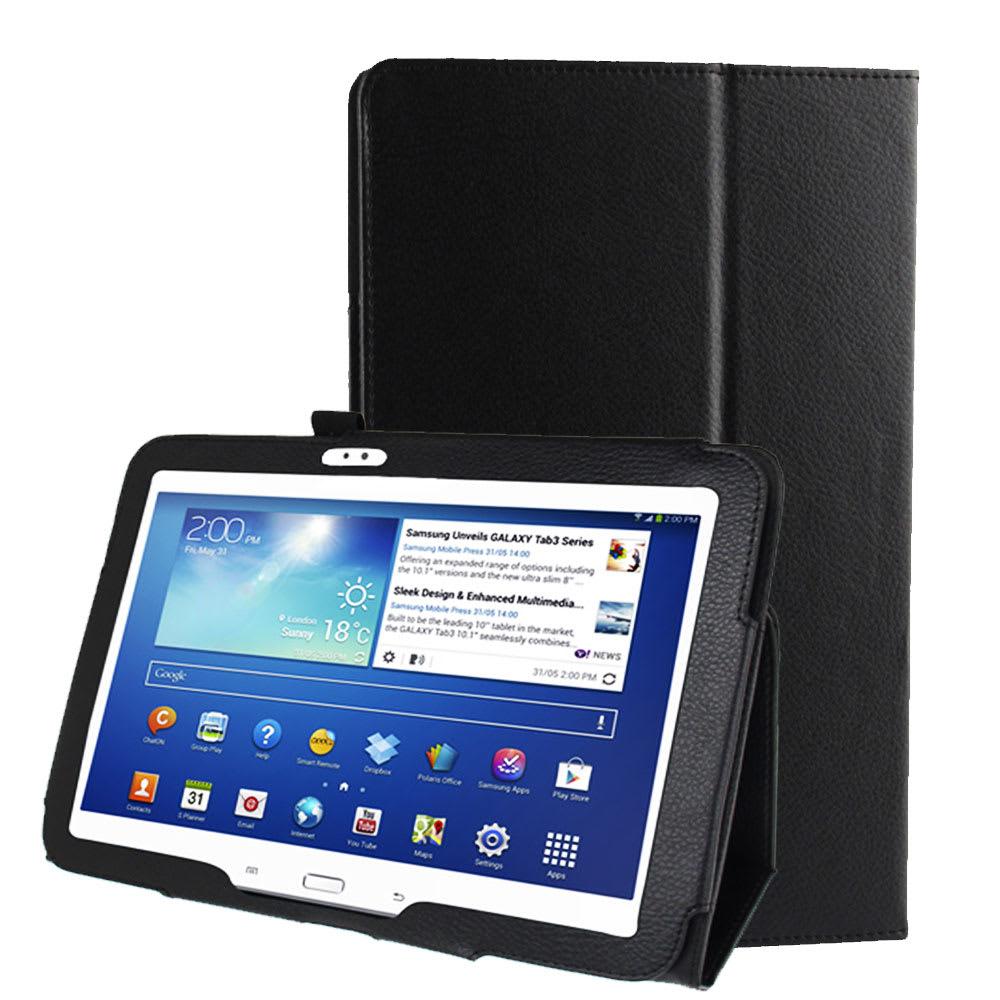 Etui Smart Case pour Samsung Galaxy Tab 3 10.1 (P5200 / P5210 / P5220) - Cuir synthétique, noir Housse Pochette