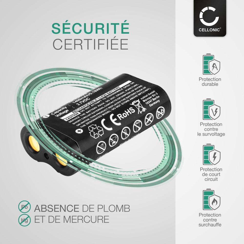 Batterie pour appareil photo Samsung Digimax A6 A5 420 240 370 430 V5000 202 250 301 - CR-V3 1400mAh CR-V3,SBP-1303 Batterie Remplacement
