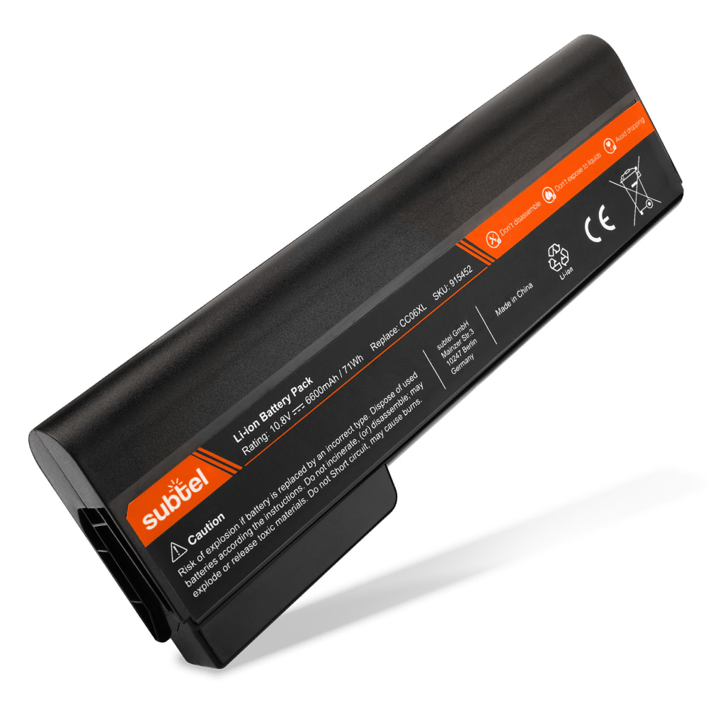 subtel® Laptop Battery for HP EliteBook 8460p / 8470p / 8560p / 8570p / ProBook 6360b / 6460b / 6475b CC06XL 6600mAh Notebook Replacement Battery Power Bank
